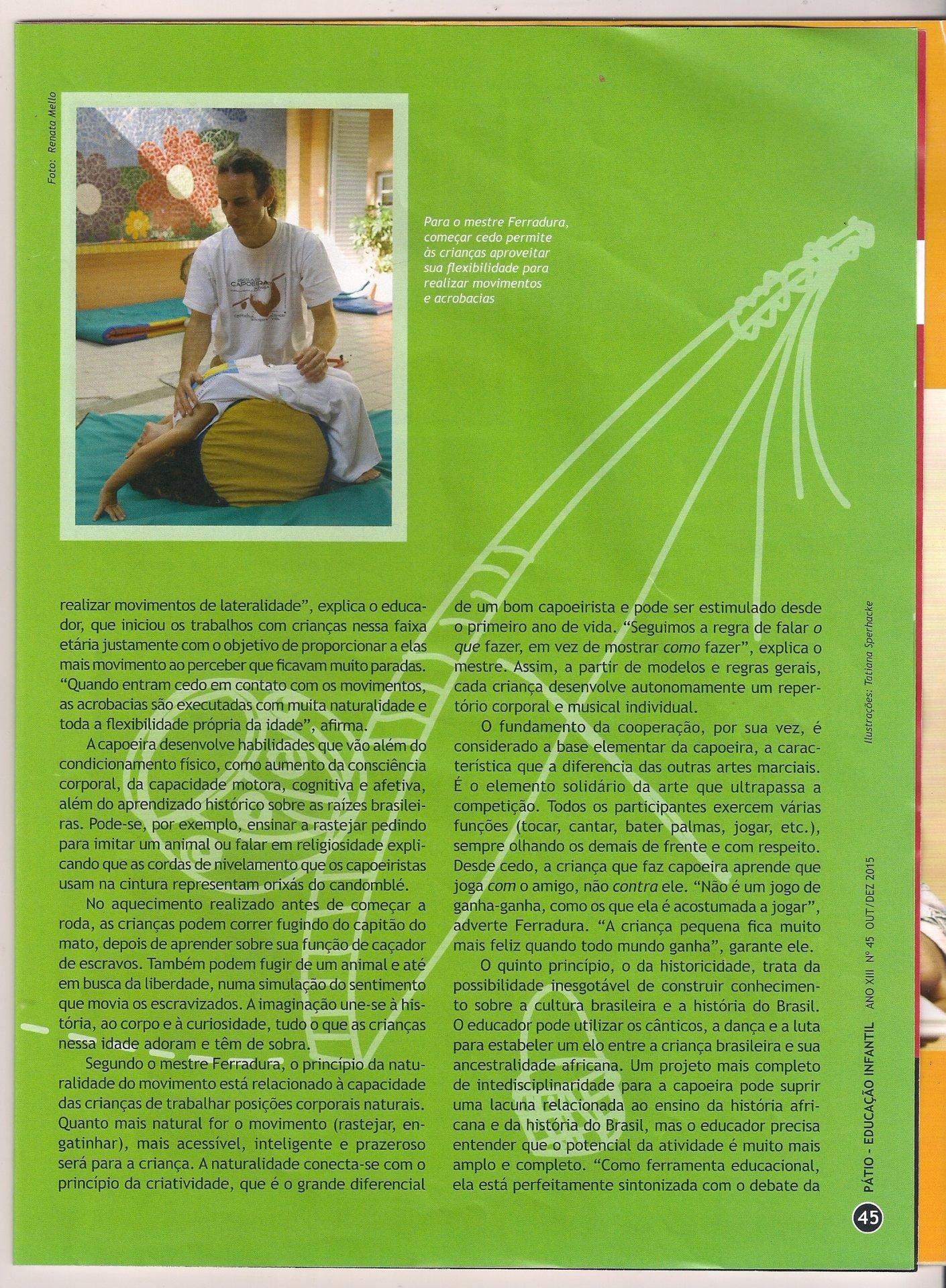 Revista Patio Educacao Capoeira